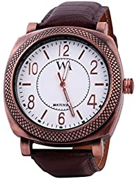 WATCH ME BLACK BROWN LEATHER ANALOG WATCH FOR MEN AND BOYS WM-0089
