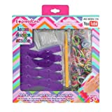 Almar Sales Company Expressions Girl D.I.Y. Expandable Rubber Band Bracelet Loom With Rainbow Bands