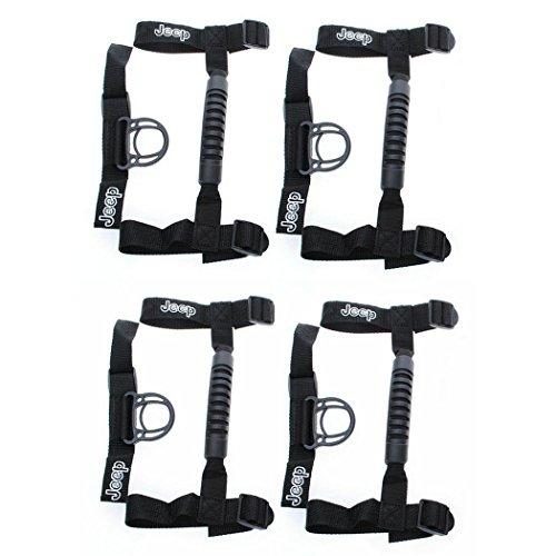 4 x Jeep Wrangler YJ, TJ, JK & Unlimited Roll Bar Grab Handles Grip Handle