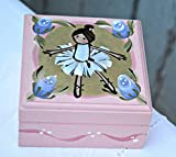 Artisan pink ballerina box. Special Quote inside. Hand painted little wooden box makes a cute present for your little dancer