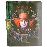 Disney Mad Hatter Lenticular Diary With Fabric Feel/Texture 6 X 8 With Mad Hat W