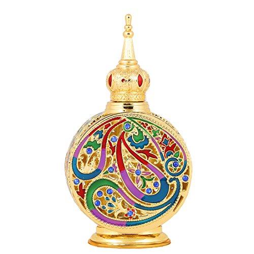 Vintage 18ml Empty Refillable Egyptian Style Perfume Bottle