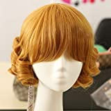 DAYISS Rozen Maiden Short Curly Wavy Full Hair Wigs Anime Cosplay Costume Party