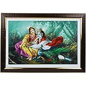 Mumbai Mad Plastic Radha Krishna Frame (6 Cm X 15 Cm X 6 Cm)