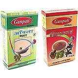 Ganpati Herbal Amla Powder 200 Gms With Shikakai Powder 200 Gms