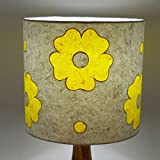 Craftter SOBAR FLOWER Design WHITE & YELLOW PAPER Colour Table Lamp Shade (CPTLS-66)