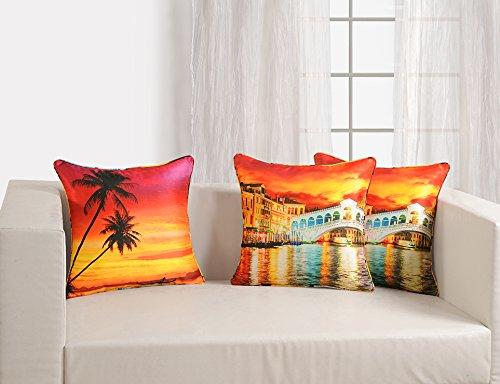 "Swayam Digitally Printed 2 Piece Fabric Deco Cushion Cover Set6"" X 16"" - Multicolor"