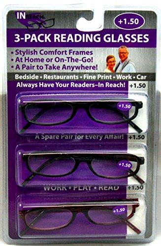Eyekepper 3-Pack Reading Glasses