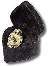 Elegante Beautifully Hand Crafted Solid Brass Keepsake With Cream Wash Finish And Elegant Velvet Case