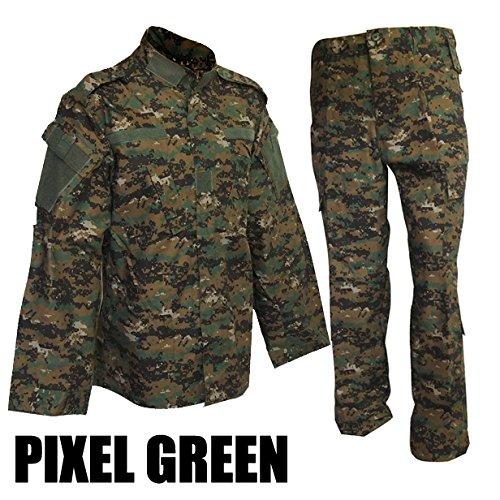 SHENKEL ピクセルグリーン BDU 迷彩戦闘服 上下セット L