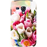 For Samsung Galaxy S3 Mini I8190 :: Samsung I8190 Galaxy S III Mini :: Samsung I8190N Galaxy S III Mini Floral Background ( Floral Background, Flower, Pink Flower, White Flower ) Printed Designer Back Case Cover By FashionCops