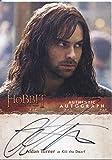 The Hobbit Desolation Of Smaug Autograph Card Aidan Turner as Kili the Dwarf