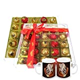 Diwali Gifts - Chocholik's Perfect Combination Of Chocolate Truffles With Gold & Red Colors With Diwali Special...