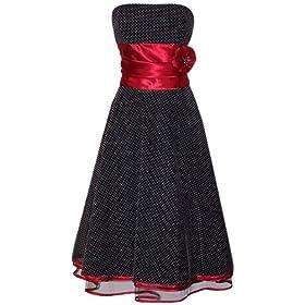 واخير فستان عجبني لانه يجمع مابين اللون الاسود والاحمر