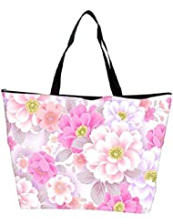 Snoogg Floral Background Designer Waterproof Bag Made Of High Strength Nylon