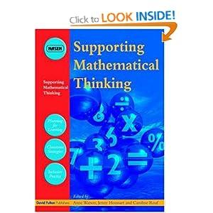 Supporting Mathematical Thinking Anne Watson, Caroline Roaf, Jenny Houssart