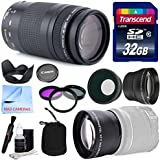 Canon Lens Kit With Canon EF 75-300mm F/4-5.6 III Telephoto Zoom Lens (58mm Thread) + Wide & Telephoto Auxiliary...
