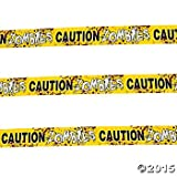 Zombie Party Decoration Set (Hanging Swirls & Caution Tape) HALLOWEEN PARTY - WALKING Dead DECOR
