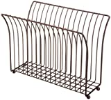 Taymor Coated Oil Rubbed Bronze Modern Magazine Rack