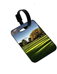 Snoogg Tress In Park Designer Luggage Tags Premium Quality Card Tags - Great For Travel