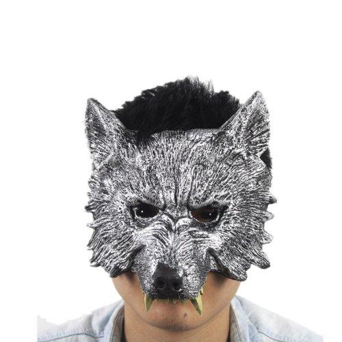 満月の夜は狼男!! マスク 狼 威嚇 顔 クリスマス 仮装 変装 イベント パーティー