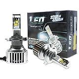 H4 Hi/Lo Auto LED Headlights Kit By Evitek, Using OSRAM LED CHIP- Pure 6500K Cool White Light, Easy-Installed...