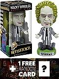 Beetlejuice Bobble Head Figure: Wacky Wobbler Horror Movie Series + 1 FREE Classic Horror & Sci-fi Movies Trading Card Bundle [23816]