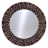 The Decor Mart Multi Colour Resin Mirror - 12 X 12 Inch