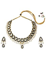 Mehtaphor Gold Plated Choker Necklace Set For Women - B00XW1R930