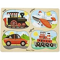 Melissa & Doug 4-in-1 Peg Vehicles Puzzle