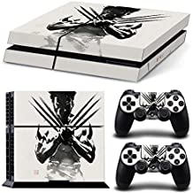 Elton The-Wolverine Theme 3M Skin Sticker Cover For PS4 Console And Controllers