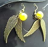 Harry Potter Golden Snitch - earrings