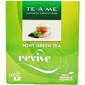 TE-A-ME Mint Green Tea, 10 Tea Bags