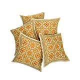 Rajrang Sofa Décor Cushions Designer Cushion Cover Set 5 Pcs - B00RCM8DC6