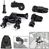 EEEKit Bicycle Bike Motorcycle Cycling Riding Kit For Sony Action Cam HDR AS15/AS20/AS100V/AZ1 Mini FDR-X1000V Handlebar Mount And Release Plate