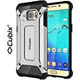 Cubix® Shock Proof Case For Samsung Galaxy S6 Edge+ Tough Armor Tech Series Back Cover Case With Premium Carbon... - B06XGWJ9HH
