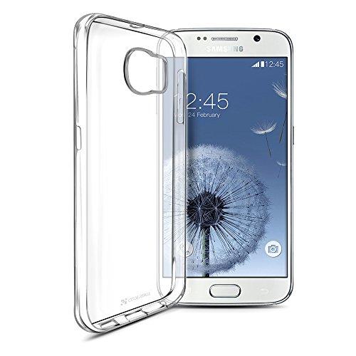 Coolreall Coque Samsung Galaxy S6 Housse Etui TPU Clair Transparente Sans Encombrement Ultra Douce Coque avec un design unique granuleuse d'absorption...