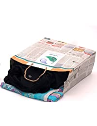 Pack Of 50 Eco-friendly Newspaper Paper Bag 15 X 12 X 5 Laundry Bags
