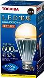 TOSHIBA E-CORE LED電球 一般電球形8.7W(電球色相当) LEL-AW8L