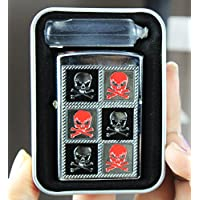 Winfire Skull Designer Smoking Set Refillable Windproof Oil Cigarette Lighter In Glossy Finish With Lighter Fuel-LIT460