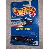 #200 Custom Corvette Dark Purple 7-Spoke Wheels Collectible Collector Car Mattel Hot Wheels