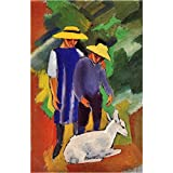 Art Panel - Children With Goat By August Macke