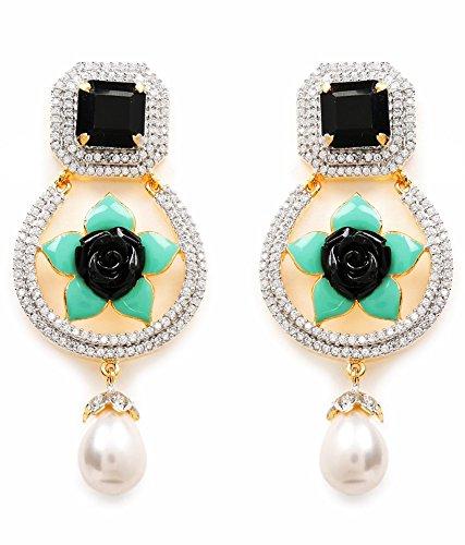 Akshim Multicolour Alloy Earrings For Women - B00NPY8FEG