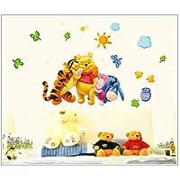 Gadfly- The Honey Pot Sun Winnie The Pooh And Winnie The Pooh Peel & Stick Nursery/baby Wall Sticker Decal