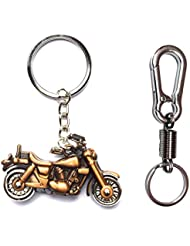 City Choice Combo Of Bike & Spring Hook-Locking Mettalic Keychains