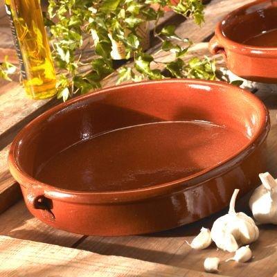 La Tienda Terra Cotta Cazuela Dish (12.8 inch, 96 oz / 12 cup capacity)
