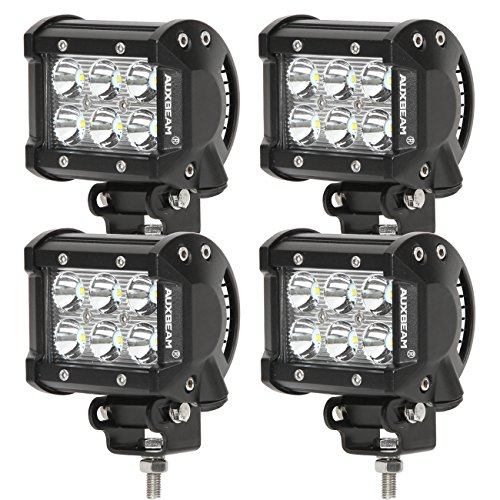 Auxbeam® 4 Pcs 4″ 18W CREE LED Work Light Bar Spot waterproof for Off-road Truck Car ATV SUV Jeep Boat 4WD ATV Auxiliary Driving Lamp Pickup offroad Ford