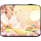 "Snoogg Colorful Town 2609 15"" Inch To 15.5"" Inch To 15.6"" Inch Laptop Netbook Notebook Slipcase Sleeve Soft Case..."