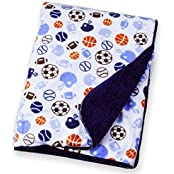 Carter Baby Blanket - Colorful Baby Blanket, Warm And Cozy, Extra Soft Fleece Blanket 30 X 40 In (Sports Balls)