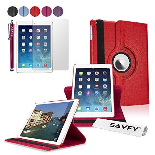 Housse iPad Air 2 - SAVFY® 360° Housse de Protection en PU cuir pour iPad Air 2 + FILM D'ECRAN + STYLET OFFERTS - Etui Smart Cover Case avec Rabat/Sta...